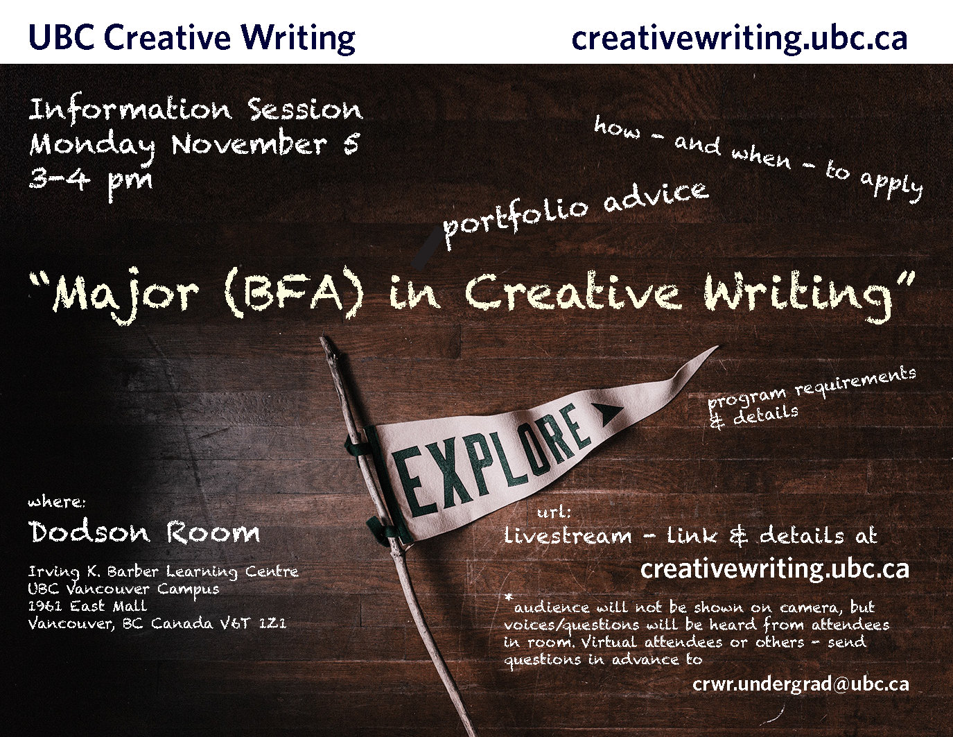 events archive - creative writing